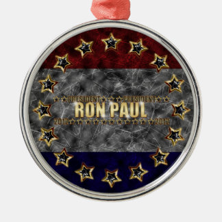 Ron Paul Stars and Stripes. Round Metal Christmas Ornament