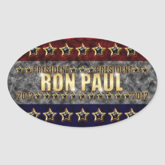 Ron Paul Stars and Stripes. Oval Sticker
