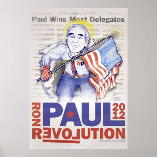Ron Paul Super Hero Poster