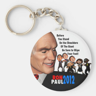 Ron Paul the Giant Basic Round Button Key Ring