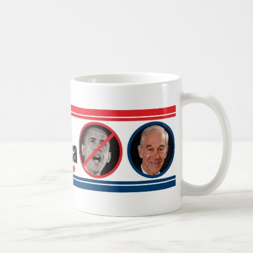 Ron Paul: THE ONE Who Can Beat Obama Basic White Mug
