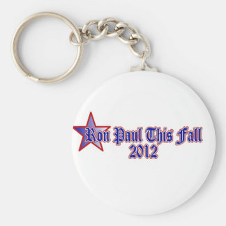 Ron Paul This Fall 2012 Basic Round Button Key Ring