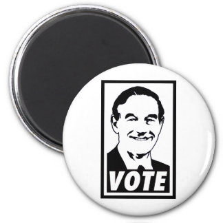 Ron Paul Vote 2012 Black Refrigerator Magnets