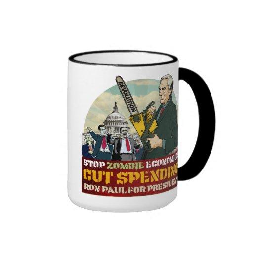 Ron Paul vs. Zombie Economics Your Mug