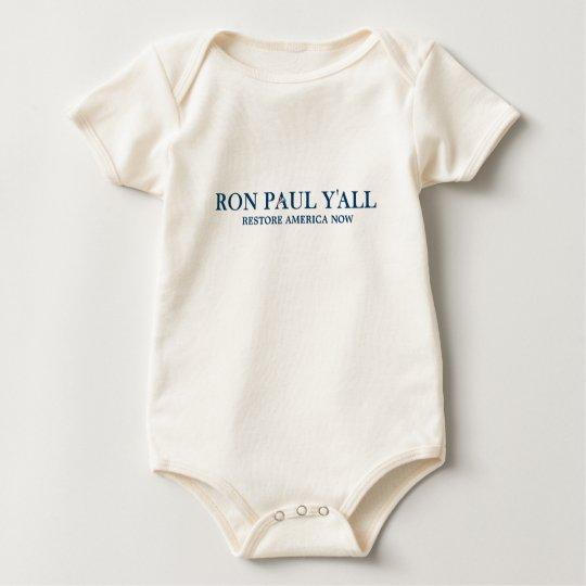 Ron Paul Y'all - Funny Slogan Baby Bodysuit