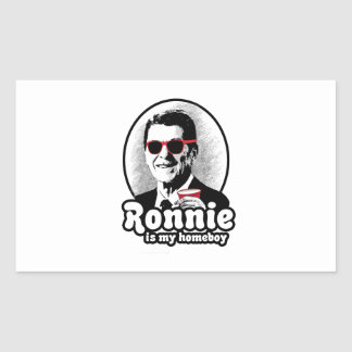 Ron Reagan is my homeboy Rectangular Sticker