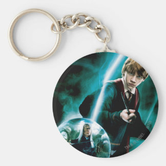 Ron Weasley and Lucius Malfoy Basic Round Button Key Ring
