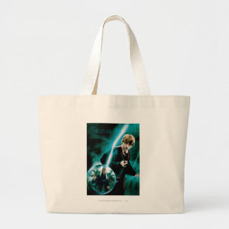 Ron Weasley and Lucius Malfoy Large Tote Bag