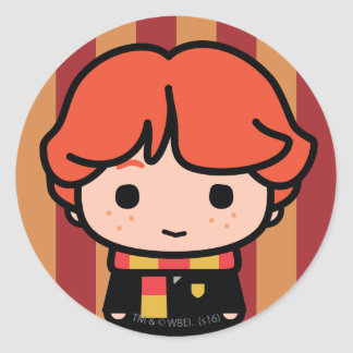 Ron Weasley Cartoon Character Art Classic Round Sticker
