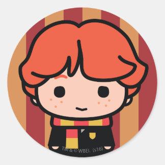 Ron Weasley Cartoon Character Art Round Sticker