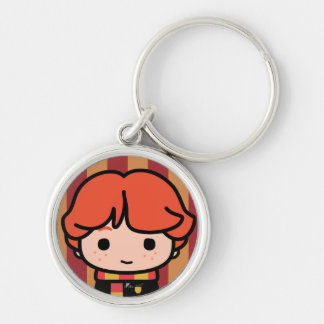 Ron Weasley Cartoon Character Art Silver-Colored Round Key Ring
