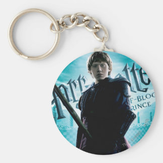 Ron weasley basic round button key ring