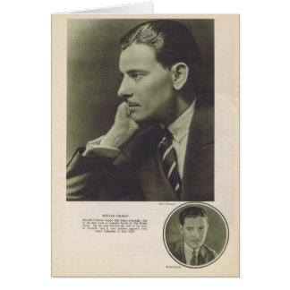 Ronald Colman 1924 portrait Card