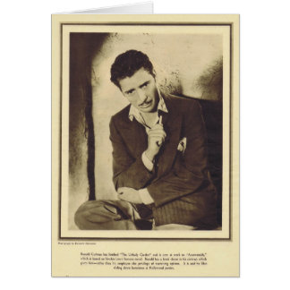 Ronald Colman 1931 portait Greeting Card