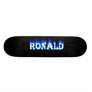 ronald ghost flame skateboard graphic design by ma