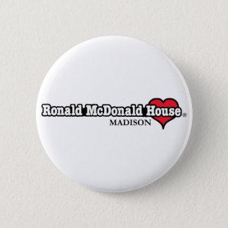 Ronald McDonald Heart 6 Cm Round Badge