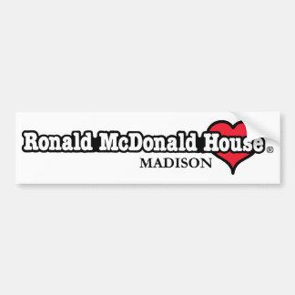 Ronald McDonald Heart Bumper Sticker
