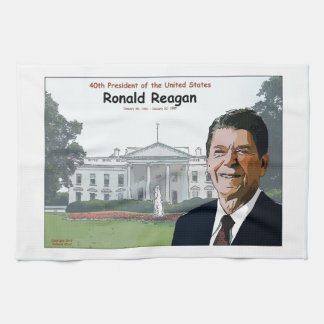 Ronald Reagan Cartoon Tea Towel