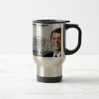 Ronald Reagan Cartoon Travel Mug