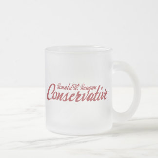 Ronald Reagan Conservative Frosted Glass Mug