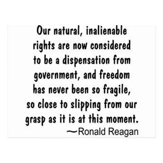 Ronald Reagan Freedom Has Never Been So Postcard