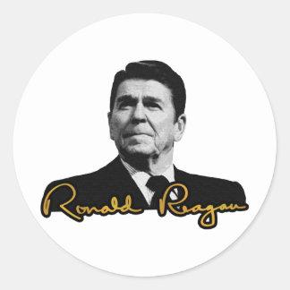Ronald Reagan Golden Round Sticker