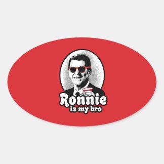 Ronald Reagan is my Bro Oval Sticker