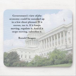 Ronald Reagan on the Economy Mousepad