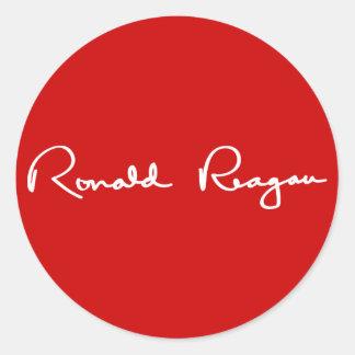 Ronald Reagan Signature Round Sticker