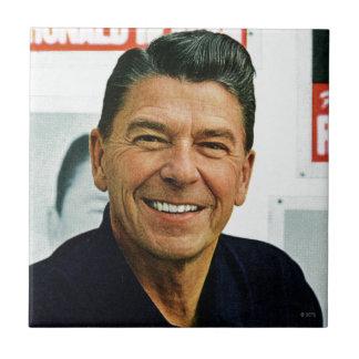 Ronald Reagan Small Square Tile