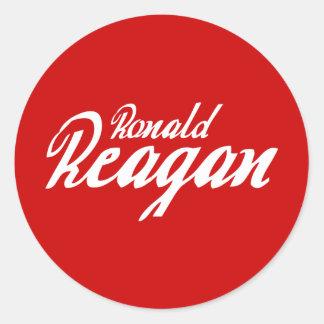 Ronald Reagan Round Sticker