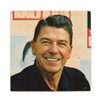 Ronald Reagan Wood Coaster