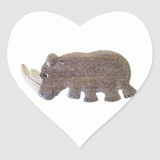 Ronald Rhino Heart Sticker