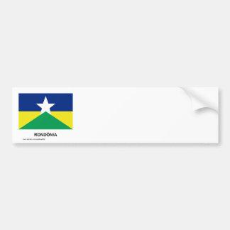 Rondônia, Brazil Flag Bumper Sticker