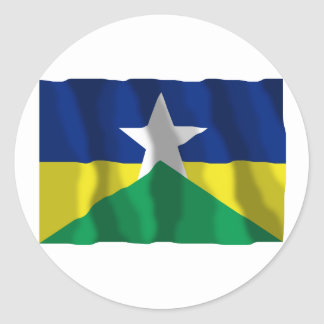 Rondônia, Brazil Waving Flag Sticker