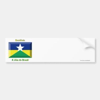 Rondônia Flag Gem Bumper Sticker