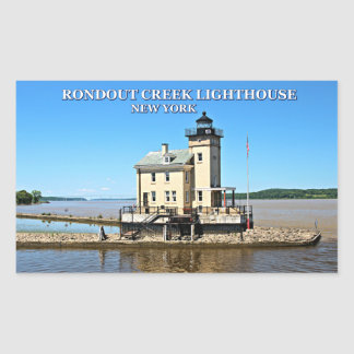 Rondout Creek Lighthouse, New York Rectangular Sticker
