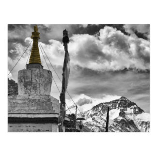 Rongbuk Monastery and Mount Everest Postcard