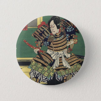 ronin knight japanese ukiyo-e samurai warrior 6 cm round badge