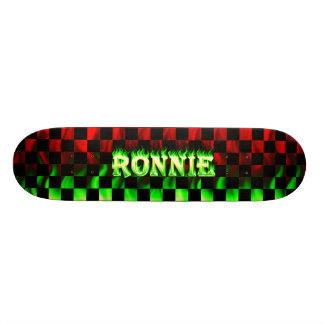 Ronnie skateboard fire and flames design.
