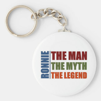 Ronnie the man, the myth, the legend basic round button key ring