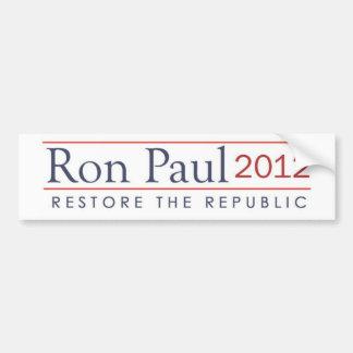 ronpaul_restore_the_republic 2012 bumper sticker