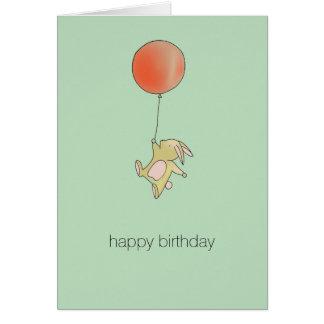 Roo Bunny - Red Big Balloon Card