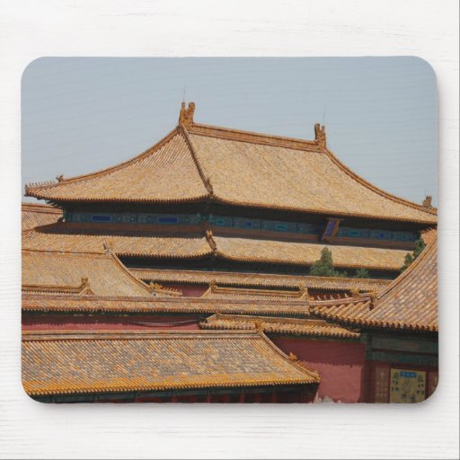 Roof from The Forbidden City Beijing. China. Mouse Mats