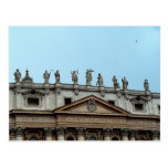 Roof of St. Peter's Basilica in Rome, Italy Postcard