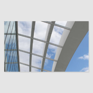 Roof of The Sky Garden, London Rectangular Sticker