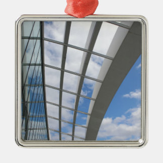 Roof of The Sky Garden, London Silver-Colored Square Decoration