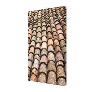 Roof tiles gallery wrap canvas