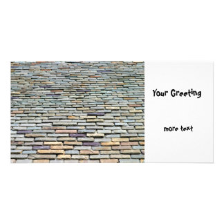 Roof Tiles Photo Card Template
