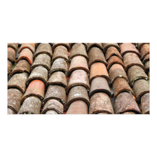 Roof tiles photo greeting card